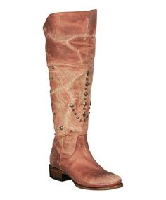 Another great find on #zulily! Red Manchester Distressed Leather Cowboy Boot #zulilyfinds