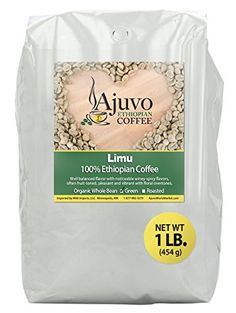 Ethiopian Limu Coffee  Green Unroasted Whole Bean 1 lb >>> Check out this great product. (This is an affiliate link)