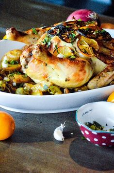 Lemon Herb Roasted Chicken with Potatoes and Brussels Sprouts, a simple, seasonal fresh, zesty, melt in your mouth one pot wonder  One-pot Wonder Recipes | Lunch Recipes | Dinner Recipes | Sunday Dinner | Weeknight Meals | Chicken Recipe | Potato Recipe | Brussels Sprouts Recipe | Lemon Recipe | Spring Recipe | Healthy Meal | Seasonal | Fresh Herbs | Family Dinner