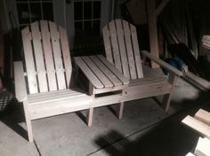 Double Adirondack Chairs with Table