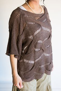 Dandoh Forest Weave Cable Pullover Knitting Pattern