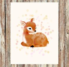 Woodland nursery decor, baby animal nursery, fawn nursery, deer nursery, nursery prints, nursery wall art, nursery art, nursery decor