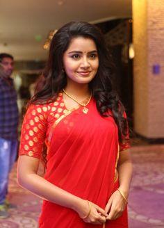 Anupama Parameswaran Hot in Red Saree Latest Photos HD Stills