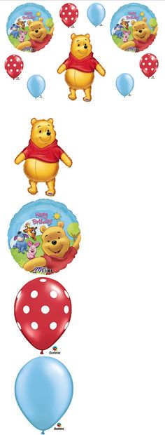Winnie The Pooh Birthday Party Balloons Decorations Supplies