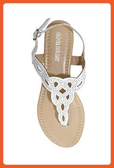 6bdb0d72a5cedc Crystal Embellished Knot Patterned Sandals Style OMM8655