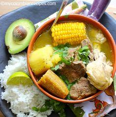 Sancocho Colombiano From: My Colombian Recipes Colombian Dishes, My Colombian Recipes, Colombian Cuisine, Sancocho Dominicano Recipe, Ecuadorian Recipes, Latin American Food, Latin Food, Gourmet, Recipes