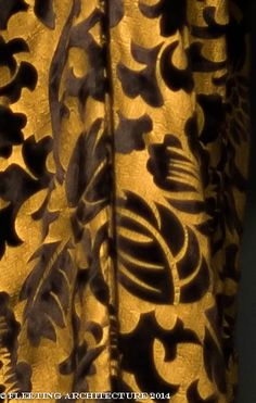 Closeup of Shirley McLaine's coat from Downton Abbey