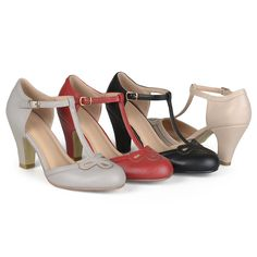 1930s Style Shoes Brinley Co Womens Patsie Pump $35.99 AT vintagedancer.com