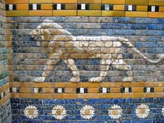 lions of the Procession street towards the Ishtar Gate, at the Pergamon Museum in Berlin.