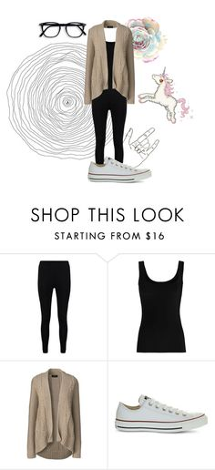 """Elizabeth"" by that-little-black-dress ❤ liked on Polyvore featuring Boohoo, Twenty, Lands' End and Converse"