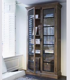 Display Cabinet or Bookcase - Oak and glass