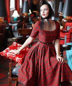 tartan swing dress