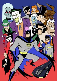 Batman the Animated series, my all time favorite batman