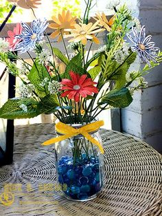 Sneak Peek: Daisy Delight Floral Arrangement Home Decor Piece – Rick D. Adkins (Independent Stampin' Up! Demonstrator )
