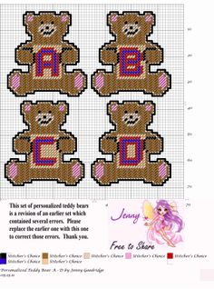 Personalized Teddy Bears A-D