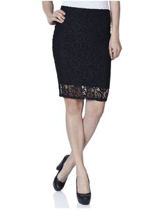 15091716 Anit lace knee skirt