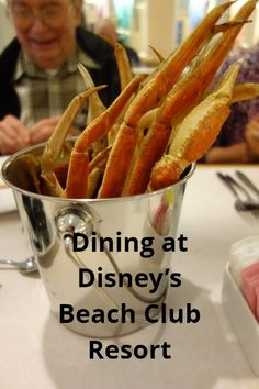 Disney World Resort Dining - a look at the options available at Disney's Beach Club Resort from yourfirstvisit.net | #DisneyWorldRestaurants #DisneyWorldResorts #DisneysBeachClubResort #DisneyWorldTips Disney World Deals, Disney World Food, Disney World Restaurants, Disney Hotels, Disney World Planning, Seafood Buffet, Best Seafood Restaurant, Disney Vacation Club, Walt Disney World Vacations