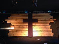 Christ Community Church Mooresville's April's stage design.