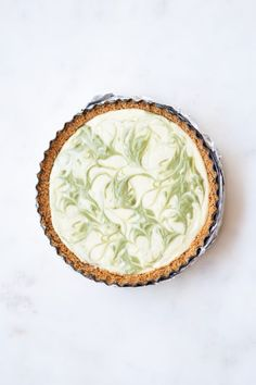 Save this creative dessert recipe to make Marbled Matcha Cheesecake.