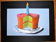 Oil Pastel- I love how the candle breaks the frame.