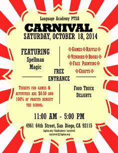 cancer fundraiser carnival flyer examples - Google Search ...