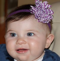 SALE Boutique Baby Girl Purple and White by CamdynReeseHeadbands, $6.80