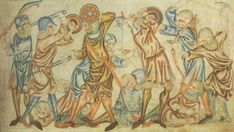 Manuscript BL Additional 47682 Holkham Bible Folio 40 Dating 1327-1335 From London, England Holding Institution Posner Memorial Collection