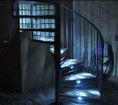 Outdoor Spiral Staircase With LED Lighting
