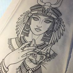 #mulpix Drawing for a tattoo started today. Egyptian goddess Isis. No affiliation to the terrorist organization..