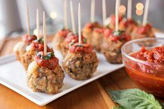 Crispy Caprese Meatballs Stuffed With Mozzarella, A Colorful Little Taste of the Holidays post image