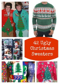 Today's Obsession: Ugly Christmas Sweaters  http://www.ladyandtheblog.com/2012/12/14/todays-obsession-ugly-christmas-sweaters/