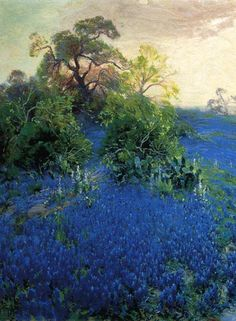 "Julian Onderdonk, ""field of Lupine blue"" (1912)  Oil on canvas 50.8 x 76.2 cm"