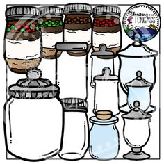 Jars Clipart Bundle
