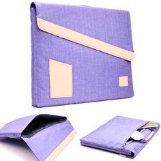 Original Urcover GEARMAX Jeans Style Mac-Book Tasche für Tablets, Laptops und Notebooks 15,4 Zoll / 39,1 cm Macbook Pro Retina, iPad Air, Galaxy Tab, Etui Schutz Hülle Tasche Sleeve Lila 29,90€