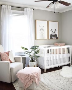 20 Baby Girl Room Ideas (The Cutest Overload) Baby nursery ideas √ 27 Cute Baby Room Ideas: Nursery Decor for Boy, Girl and Unisex 📷 shared by Designer Baby, Baby Room Design, Nursery Design, Nursery Paint Colors, Design Bedroom, Baby Room Colors, Wall Colors, Baby Nursery Decor, Baby Decor