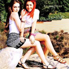 ariana grande - elizabeth gillies (cat & jade)     but i like the outfits & jades shoes
