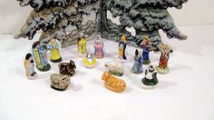 Vintage French Feve Nativity Set  15 pieces by UrbanRenewalDesigns, $31.00
