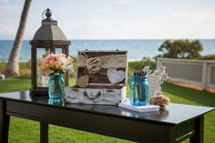 Lovely details for a vintage wedding guest sign-in table.  Photo: Todd M Photography