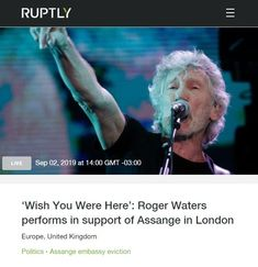 2019 Sep 2: Livestream Roger Waters LONDON