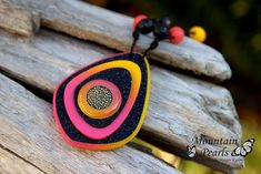 Polymer clay pendant, necklace | www.facebook.com/mountain.p… | Flickr