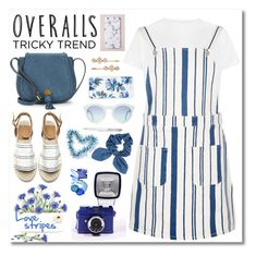 """Tricky Trend: Overalls"" by andrea2andare ❤ liked on Polyvore featuring River Island, Nanette Lepore, Sonix, Dorothy Perkins, Henri Bendel, TrickyTrend, overalls, polyvorecontest and summersandals"