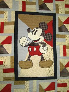 Disney Mickey Mouse Twin Quilt Sham Great Condition Bedding Comforter Unique   eBay