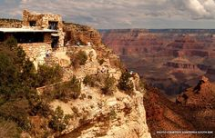 Two Grand Canyon tourist attractions designed by pioneering architect Mary Colter -- Hermit's Rest and Lookout Studio -- turn 100 this year.