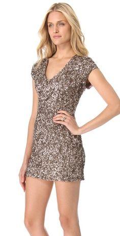 Parker Cluster Beaded V Neck Dress | SHOPBOP