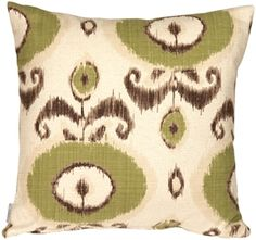 The Pillow Decor decorative throw pillow collection includes the Bold Green Ikat Throw Pillow Buy Pillows, Green Throw Pillows, Ikat Pillows, Decorative Throw Pillows, Green Furniture, Weaving Process, Ikat Pattern, Cushion Pads, Fabric