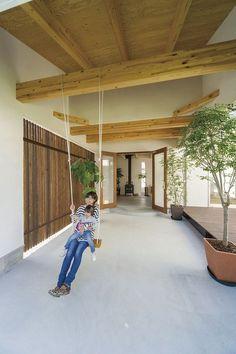東広島モデル | ソラマド写真集 Boutique Interior Design, Home Interior Design, Exterior Design, Interior And Exterior, Japanese Modern House, Japanese Design, Asian Interior, House Entrance, Cool Rooms
