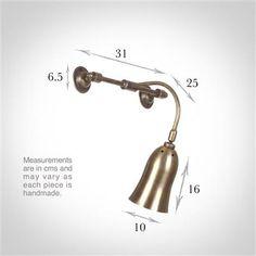 Single Brass Howard Light in Antiqued Brass