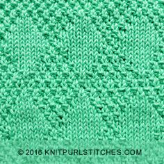 Stockinette and Moss Diamonds - Knit & Purl