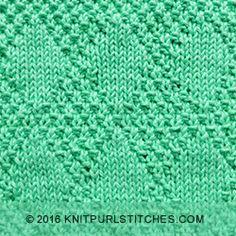 Stockinette and Moss Diamonds - Knit & Purl