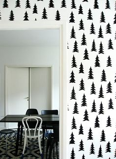 Fine little day wallpaper- would love for a wall, or more realistically, a dresser.